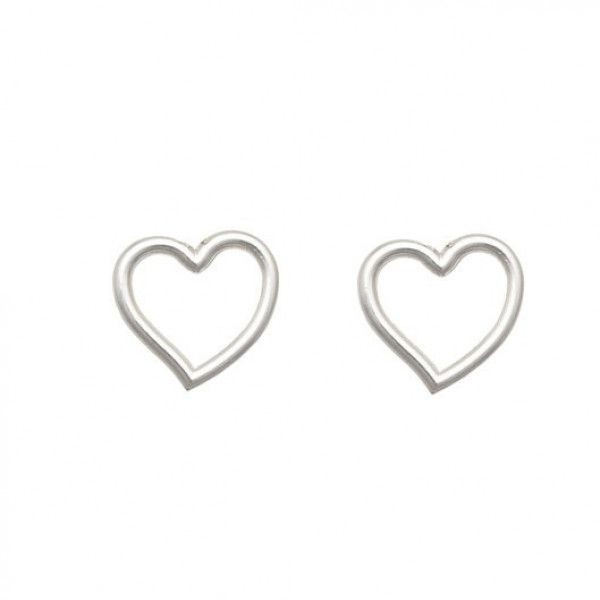 Brinco Coração Vazado de Prata Vizaro
