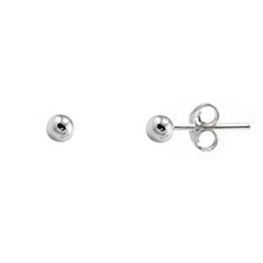 Brinco de Bolinha de Prata 5 mm Vizaro