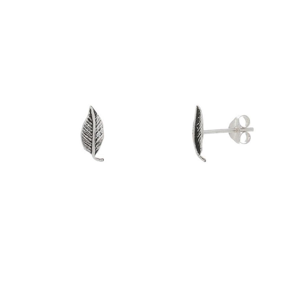 Brinco Folhinha Mini em Prata