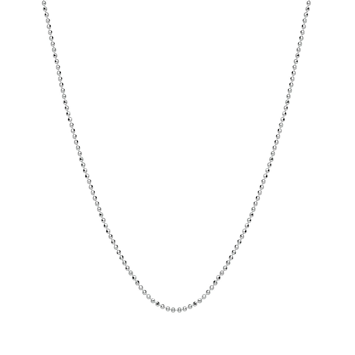 Corrente Bolinhas Diamantadas 40 cm em Prata
