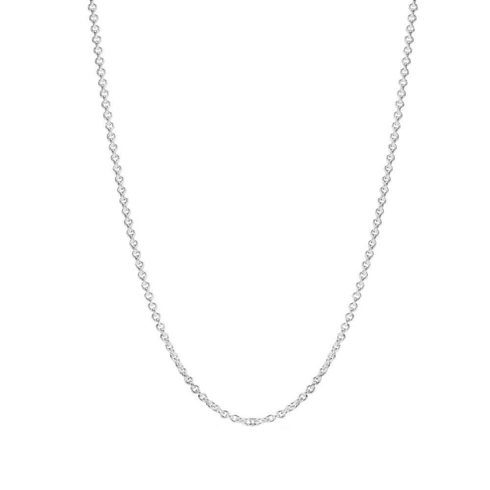 Corrente De Prata Cadeado 40 cm