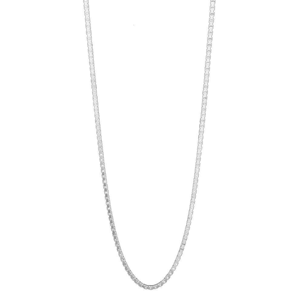 Corrente de Prata Veneziana 50 cm Vizaro