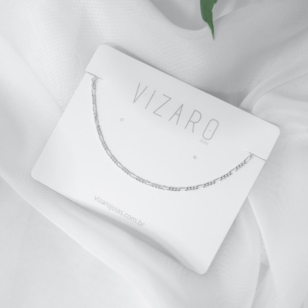 Corrente Feminina Fina 3x1 45 cm em Prata
