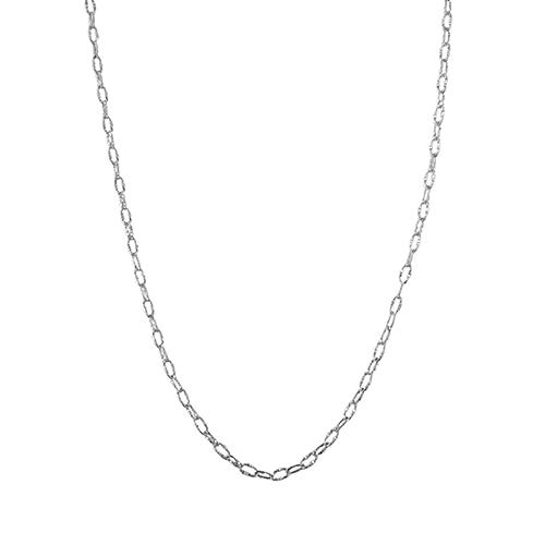 Corrente Trabalhada 45 cm em prata