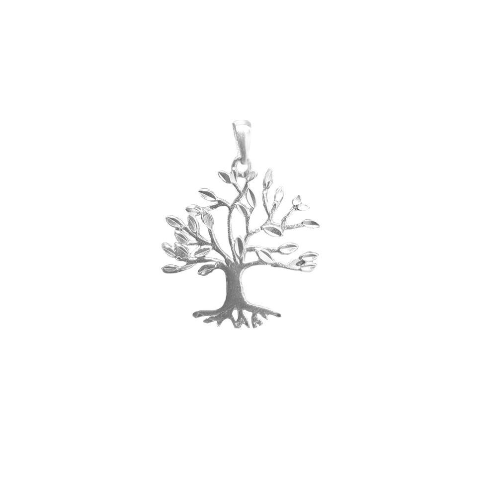 Pingente de prata árvore da vida