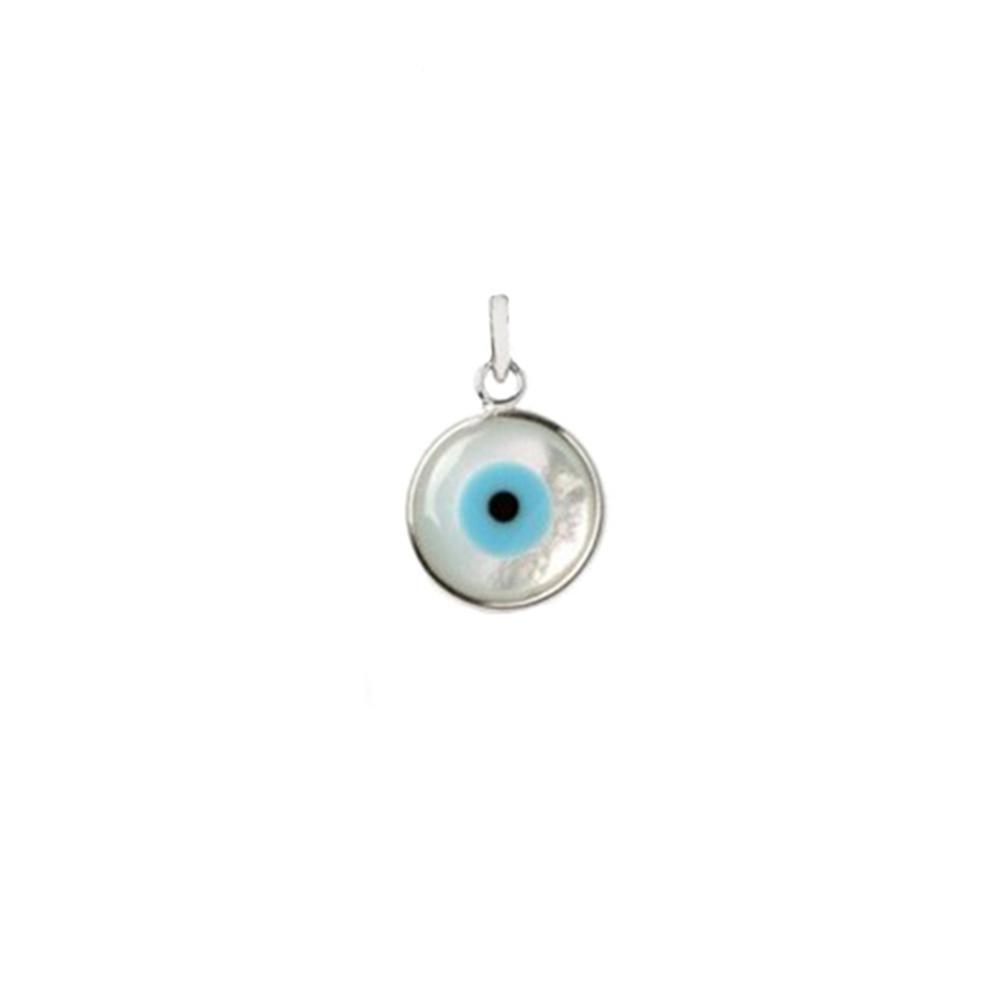 Pingente Olho Grego Pequeno em Prata