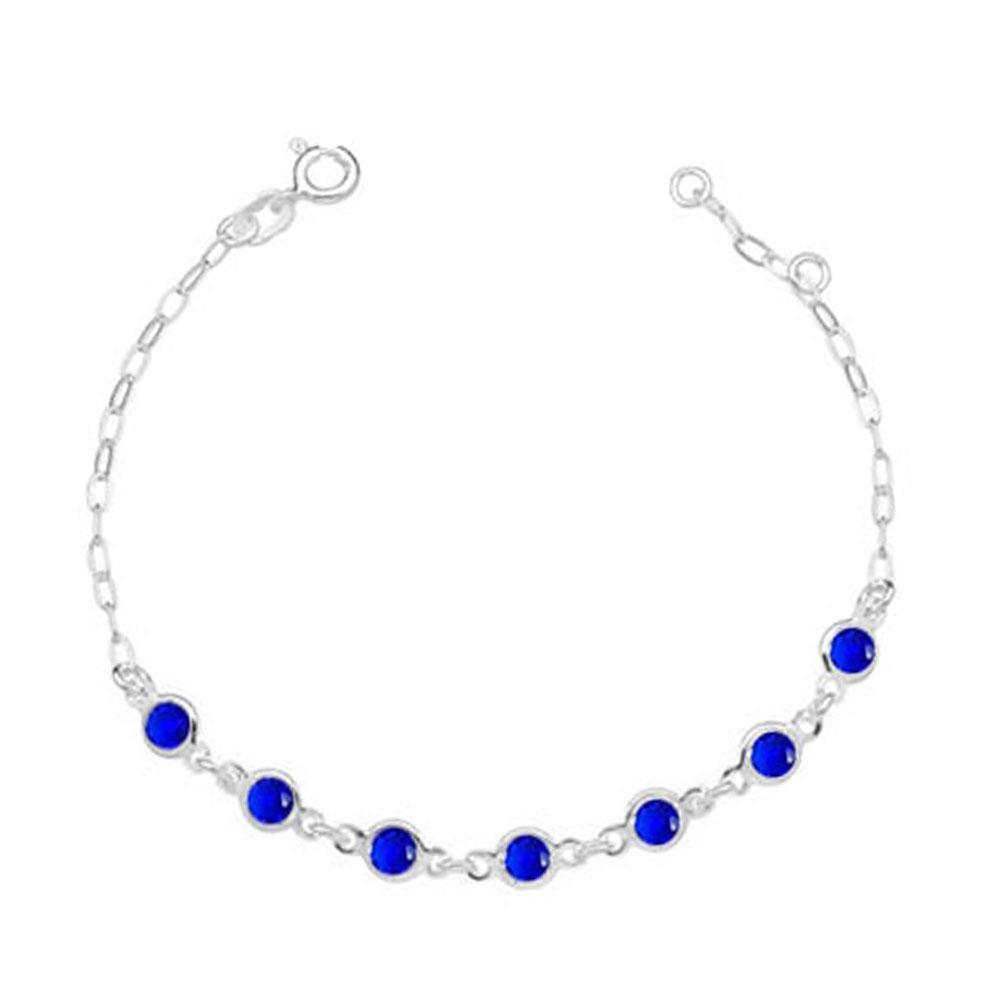 Pulseira 7 Pontos Luz Azul em Prata