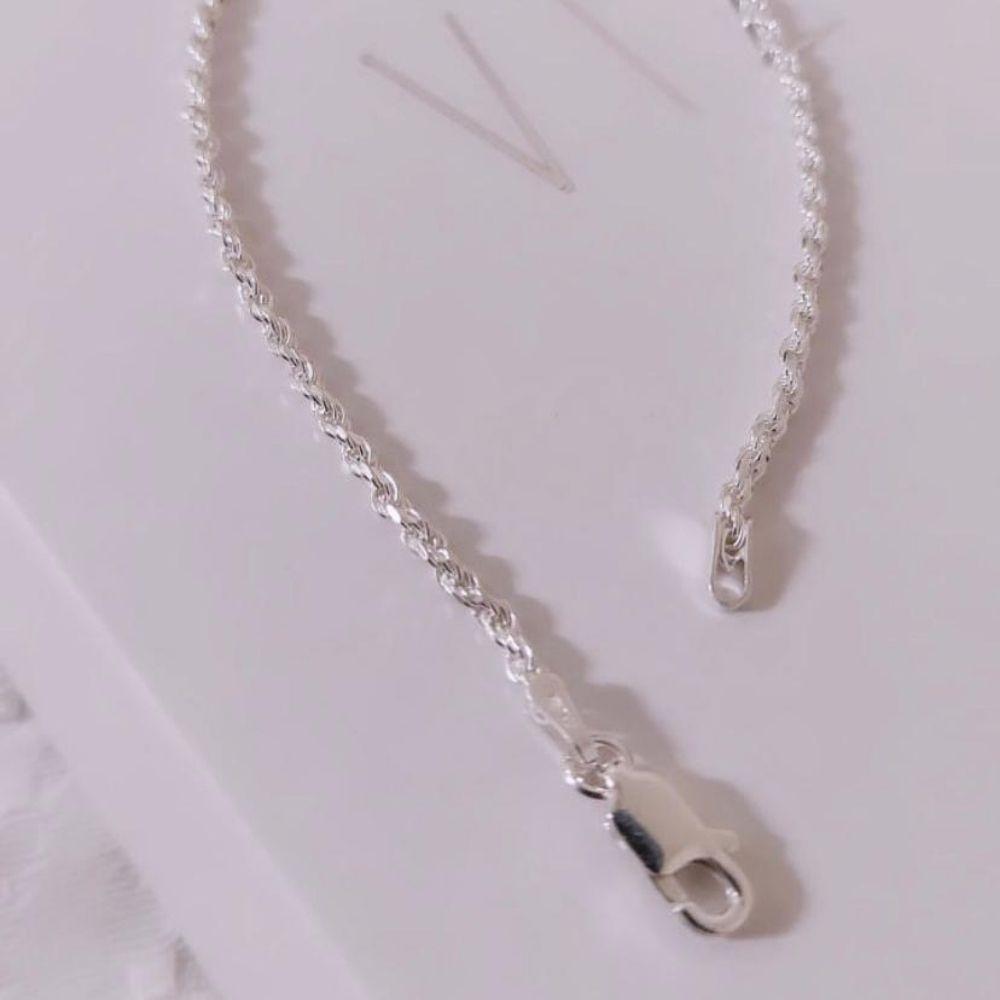 Pulseira Cordão Baiano 3 mm em Prata