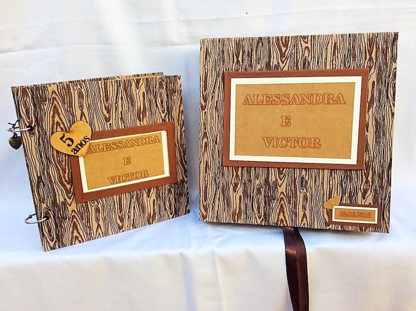 ÁLBUM MADEIRA + CAIXA