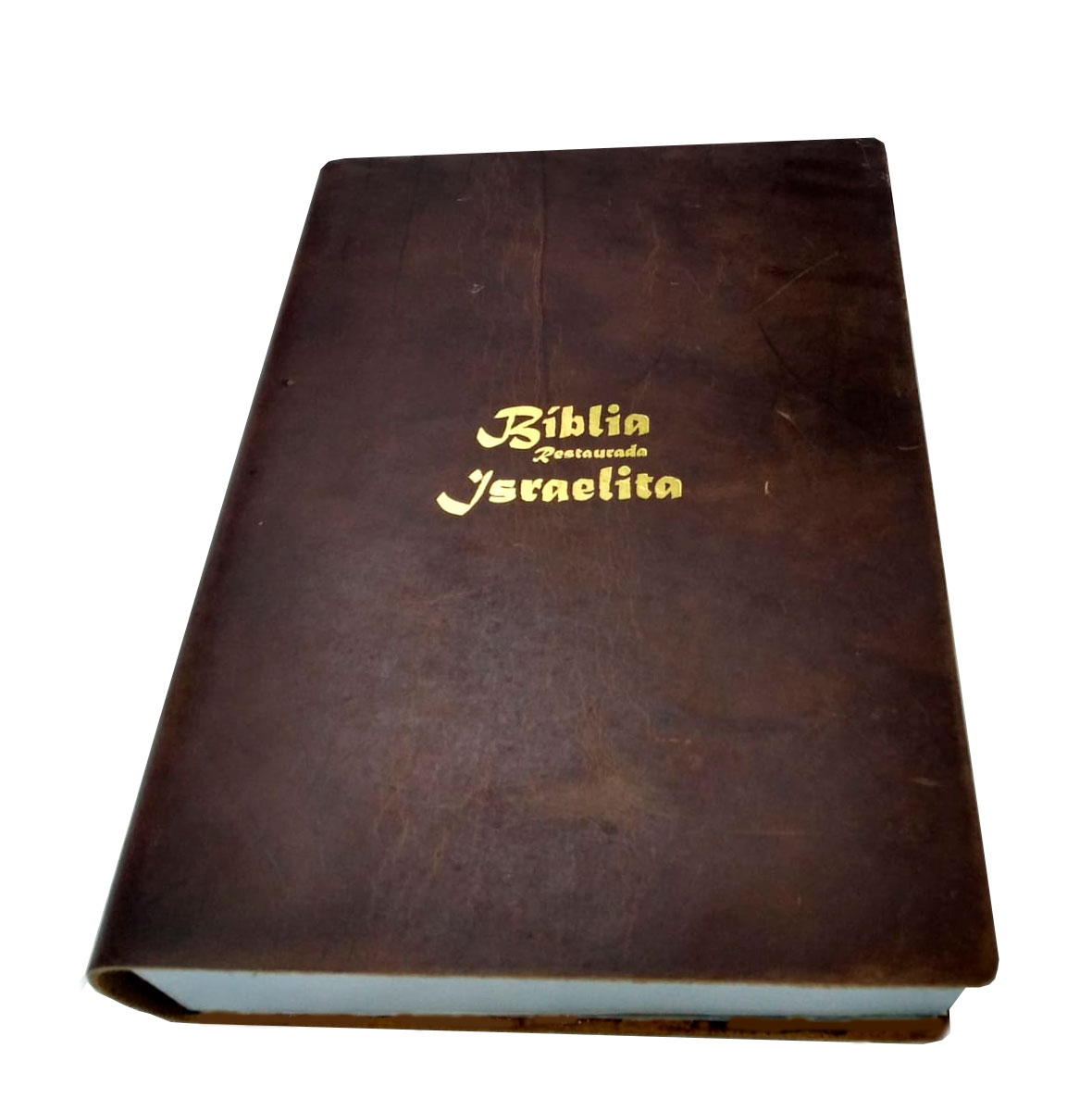 Bíblia Israelita capa couro legitimo - Cor Marrom