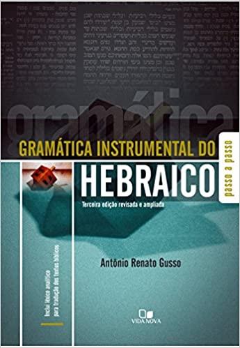 Gramática instrumental do hebraico - 3ª Edição (Português) Capa comum