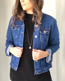 Jaqueta jeans clássica