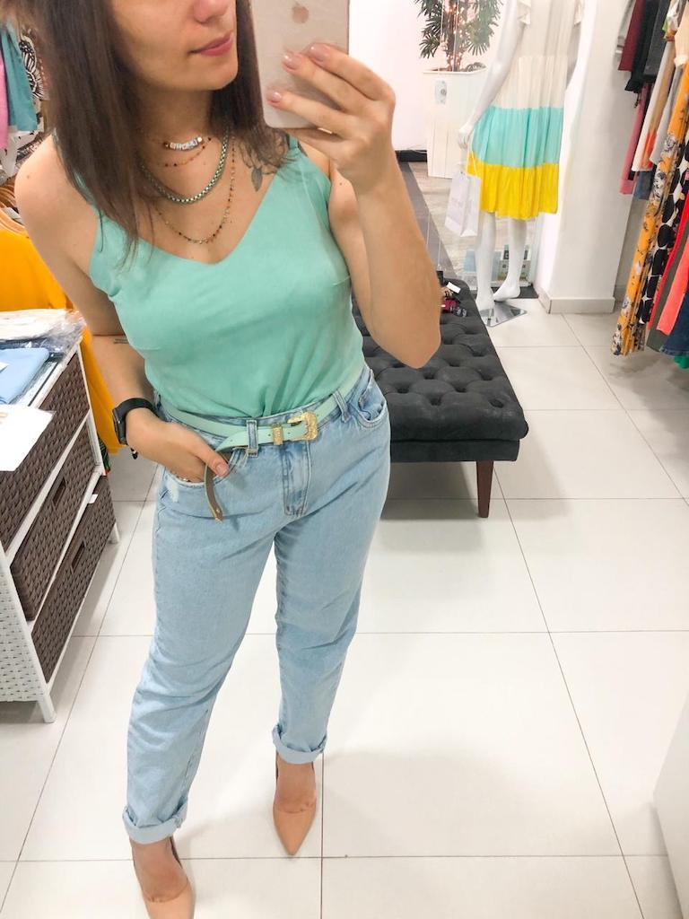 Calça mom jeans