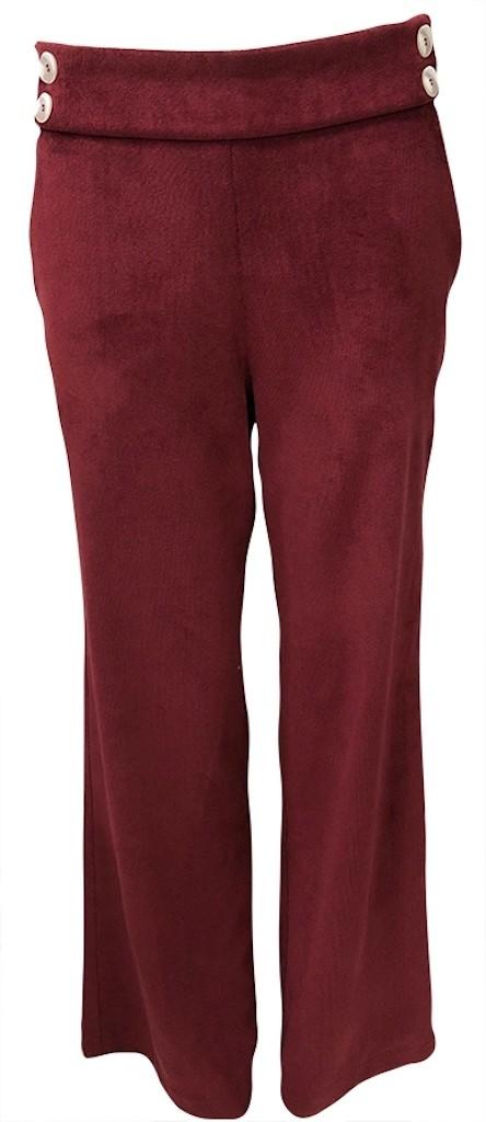 Calça pantalona veludo