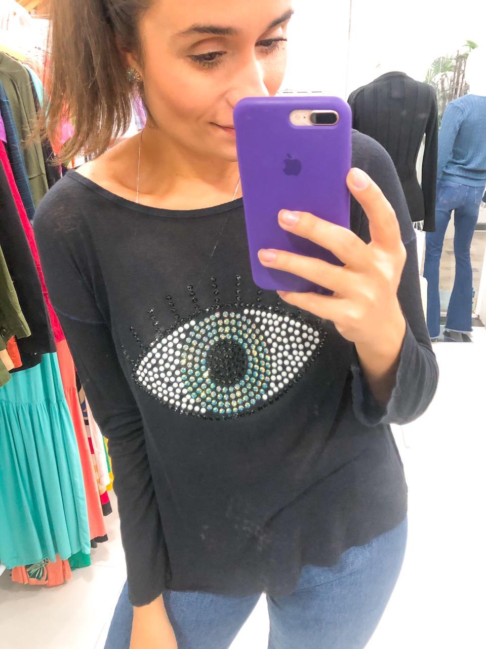 Camiseta olho manga longa