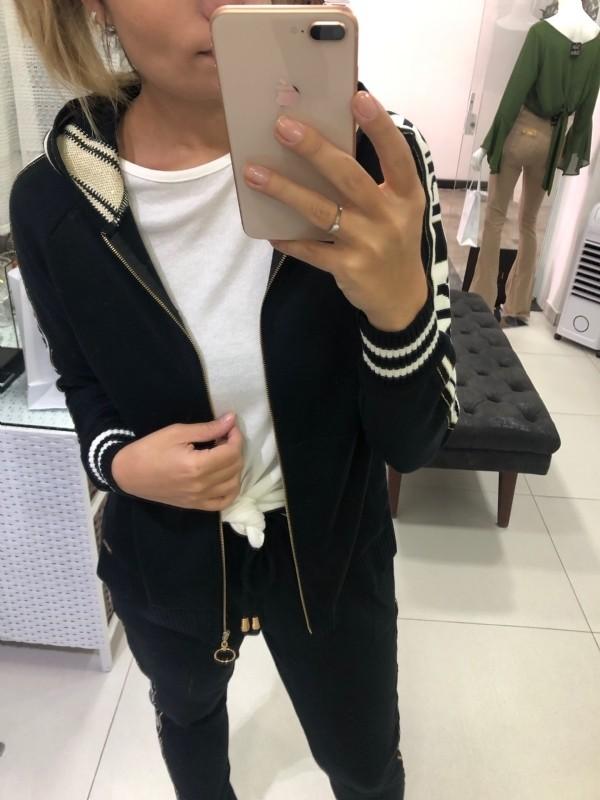 Jaqueta tricot esportivo