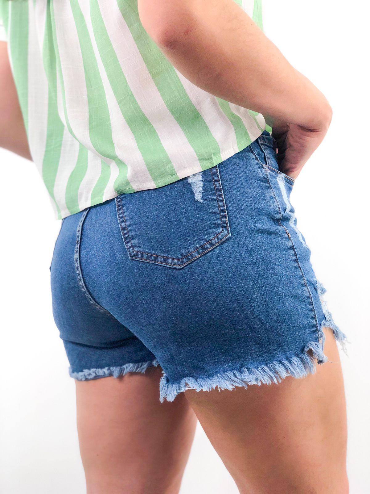 Short jeans elastano destroyed
