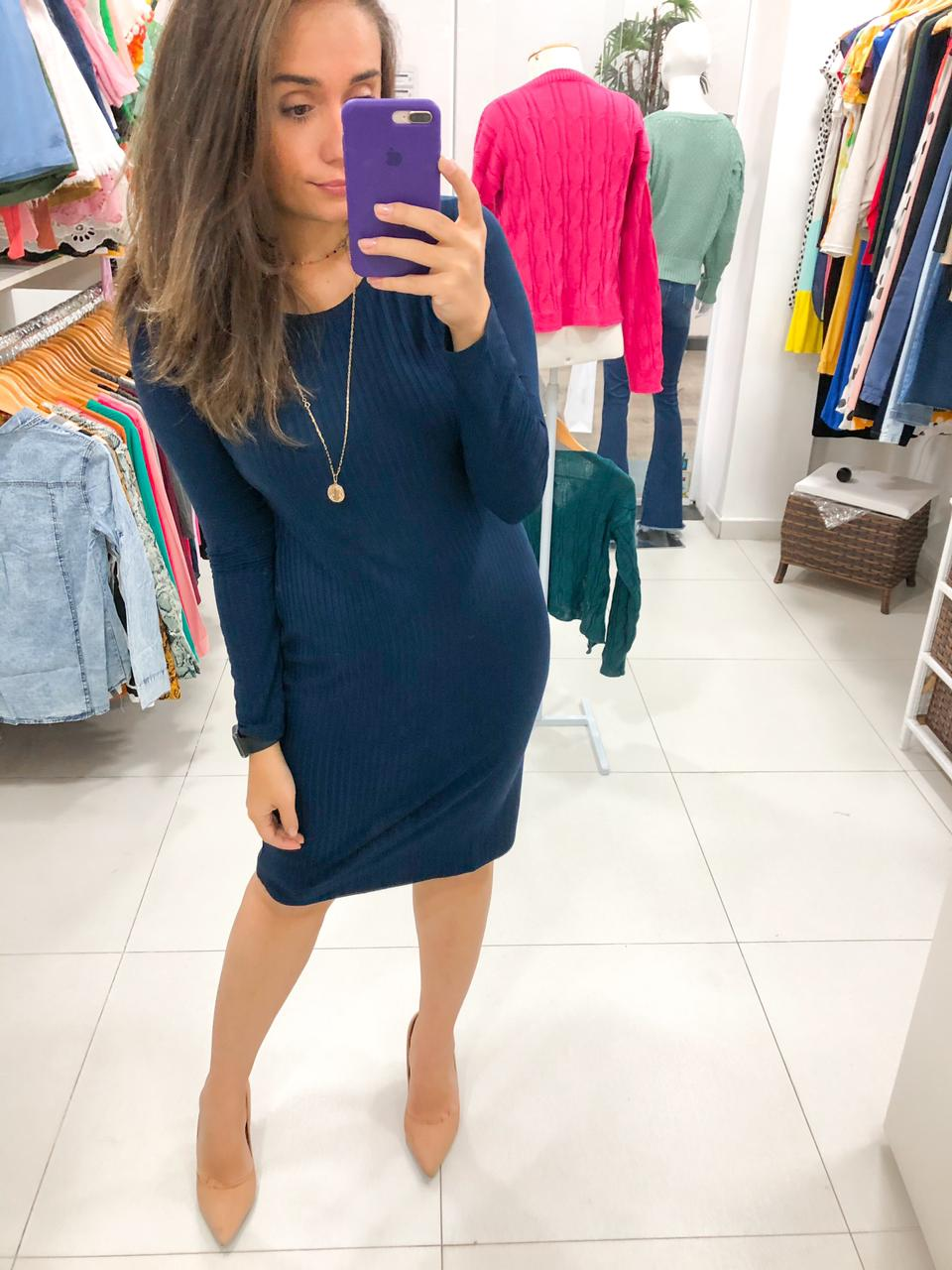 Vestido basic m/l