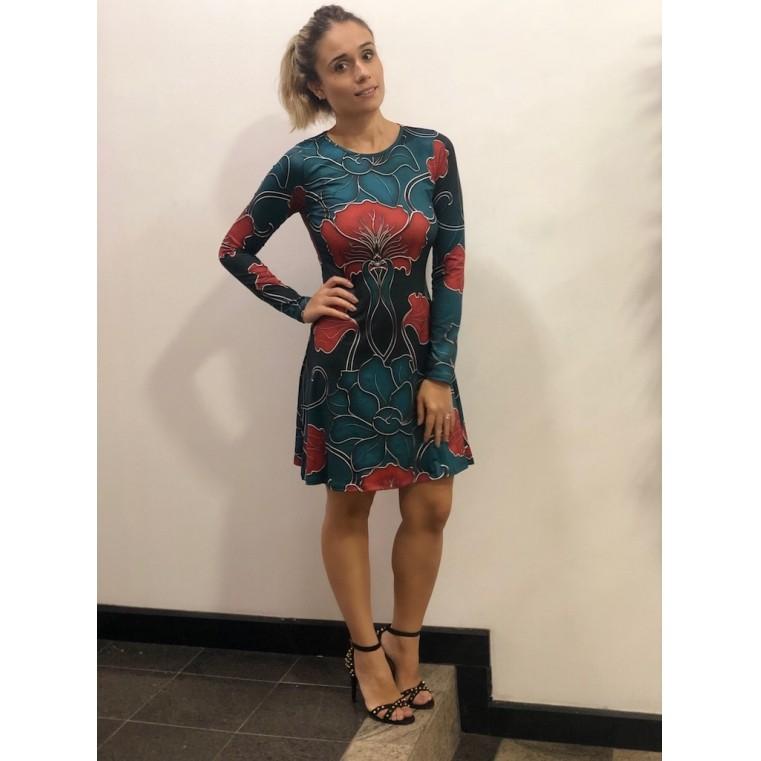 Vestido estampado ML
