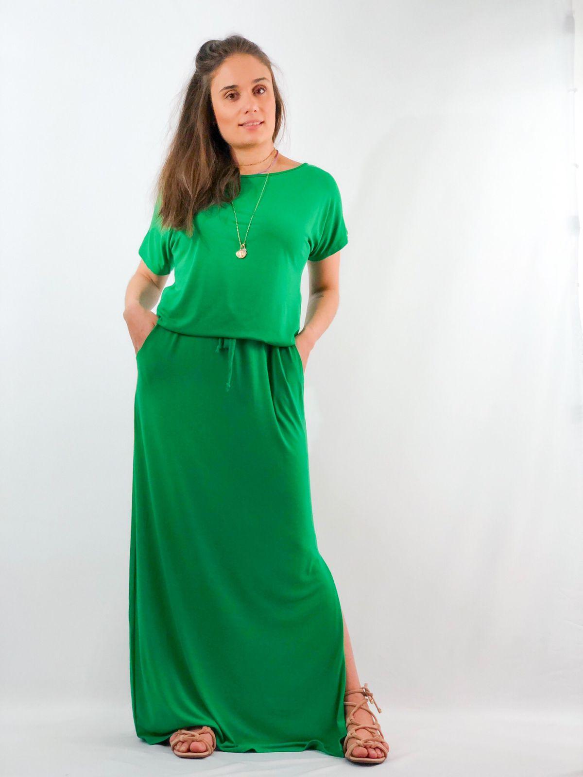 Vestido viscolycra longo
