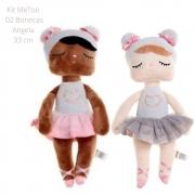Boneca MeToo Angela Maria e Angela Sofia 33cm