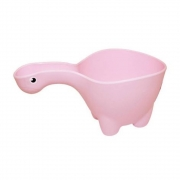 Caneca de Banho Bebê Infantil Dino Rosa Baby Bath