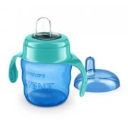 Copo Classic Spout Cup Azul Com Bico de Silicone 200ML