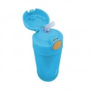 Garrafa Termica Com Canudo Azul Clingo 270ml