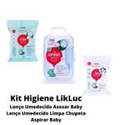 Kit AspirarBaby, Lenço Umedecido Assoar Baby e Limpa Chupeta