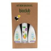 Kit Box Casa Detergente Mamadeira Limpeza de Frutas Vegetais