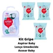 Kit Gripe AspirarBaby e 3 Lenços Umedecidos Assoar Baby