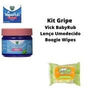 Kit Gripe Vick Baby Rub e Lenço Umedecido Boogie Wipes