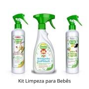 Kit Limpeza de Frutas Vegetais, Sapatinhos e Brinquedos