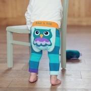 Meia Calça Legging Bebê Estampas Divertidas 6-12 Meses