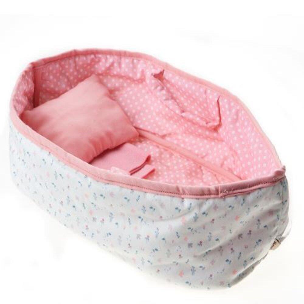 Berço Moises com Manta e Travesseiro + Angela Sofia 33 cm