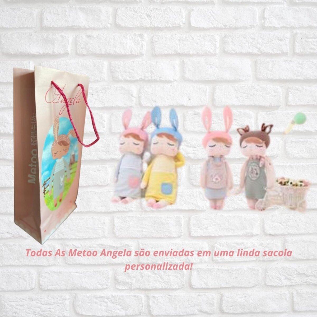 Boneca MeToo Angela Classica Cinza 33cm Original com Sacola