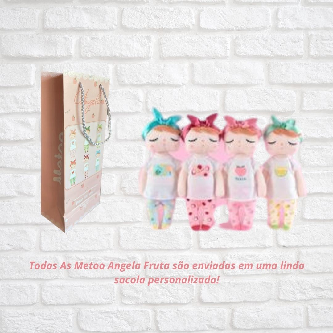Boneca Metoo Angela Fruta Abacaxi 33cm