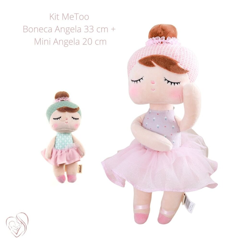 Boneca MeToo Angela Lai Ballet Rosa e Mini LaiBalet Verde