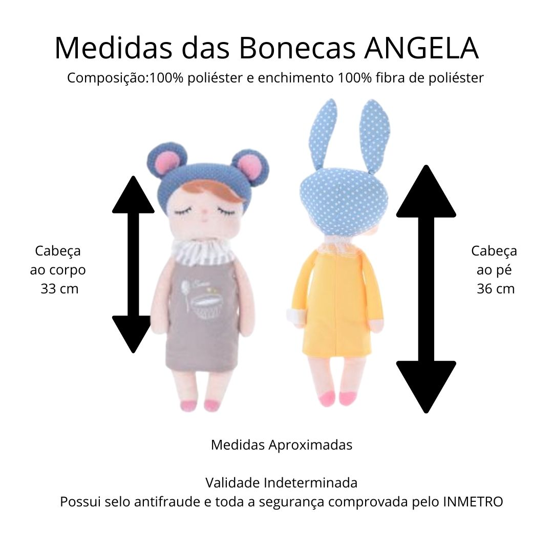 Boneca Metoo Angela Liz Coral 33cm