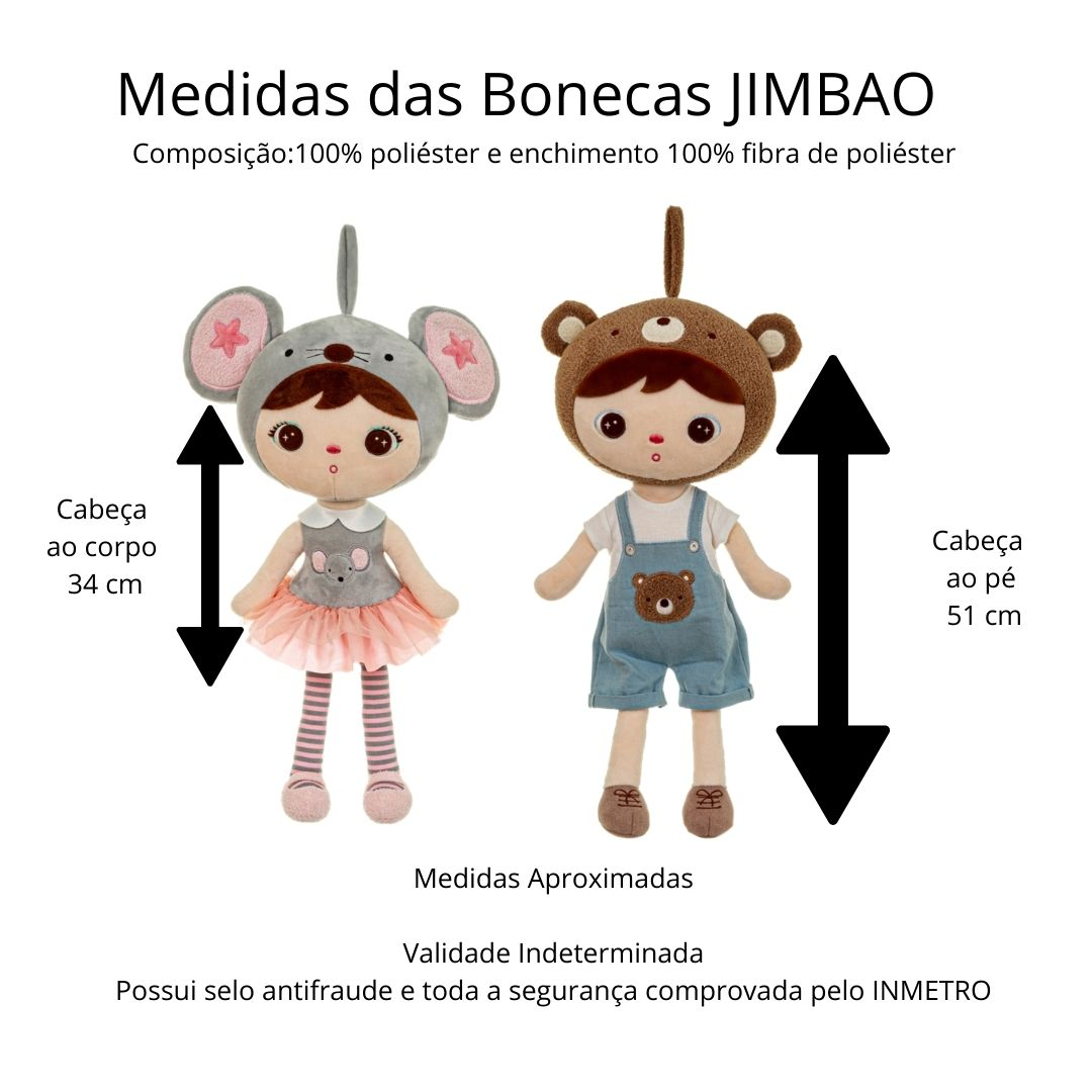 Boneca Metoo Jimbao Docinho