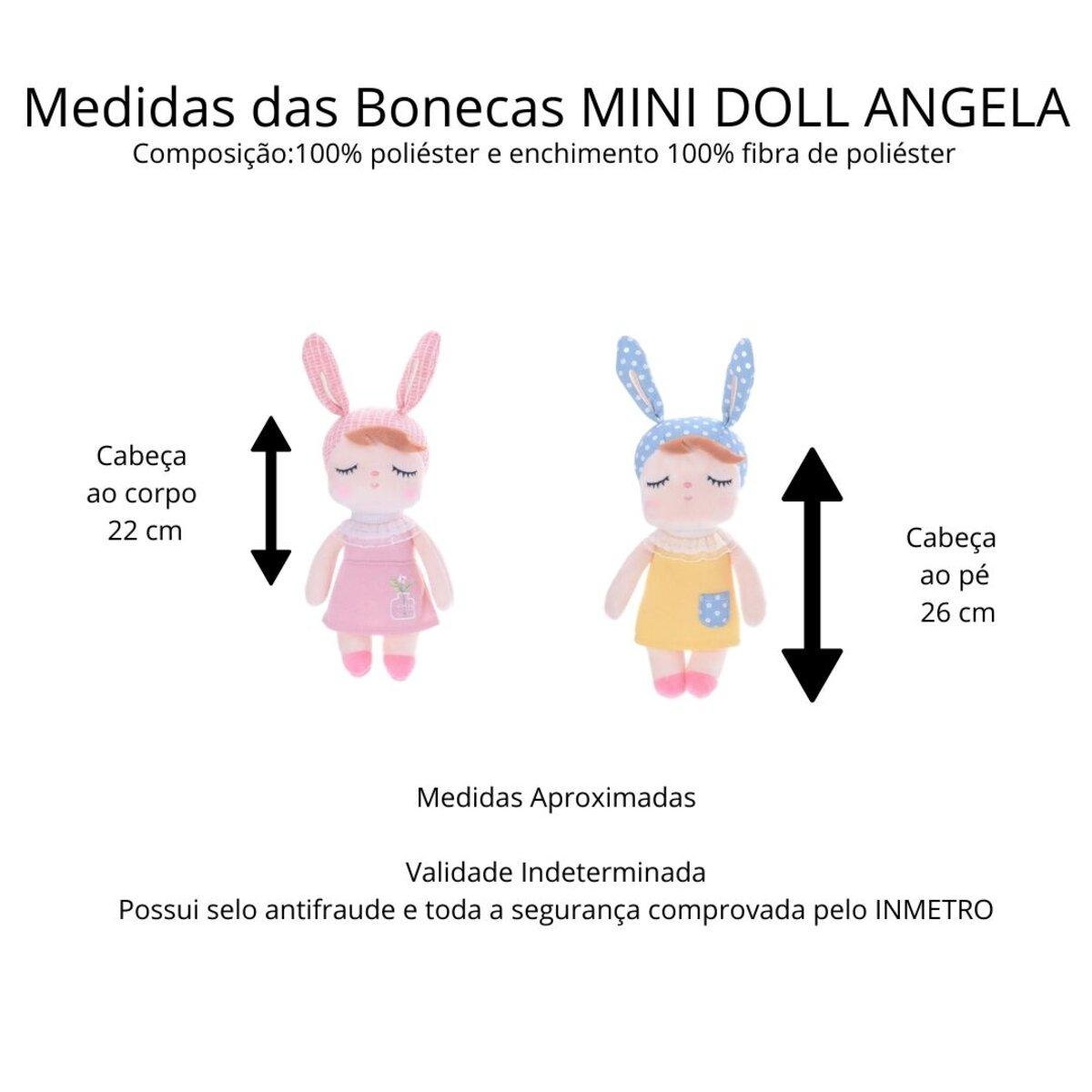 Boneca Mini Metoo Doll Angela Liz Azul 20cm Original