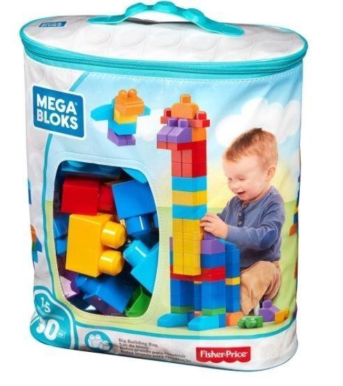 Brinquedo Mega Bloks Pré Sacola 80 peças Fisher Price