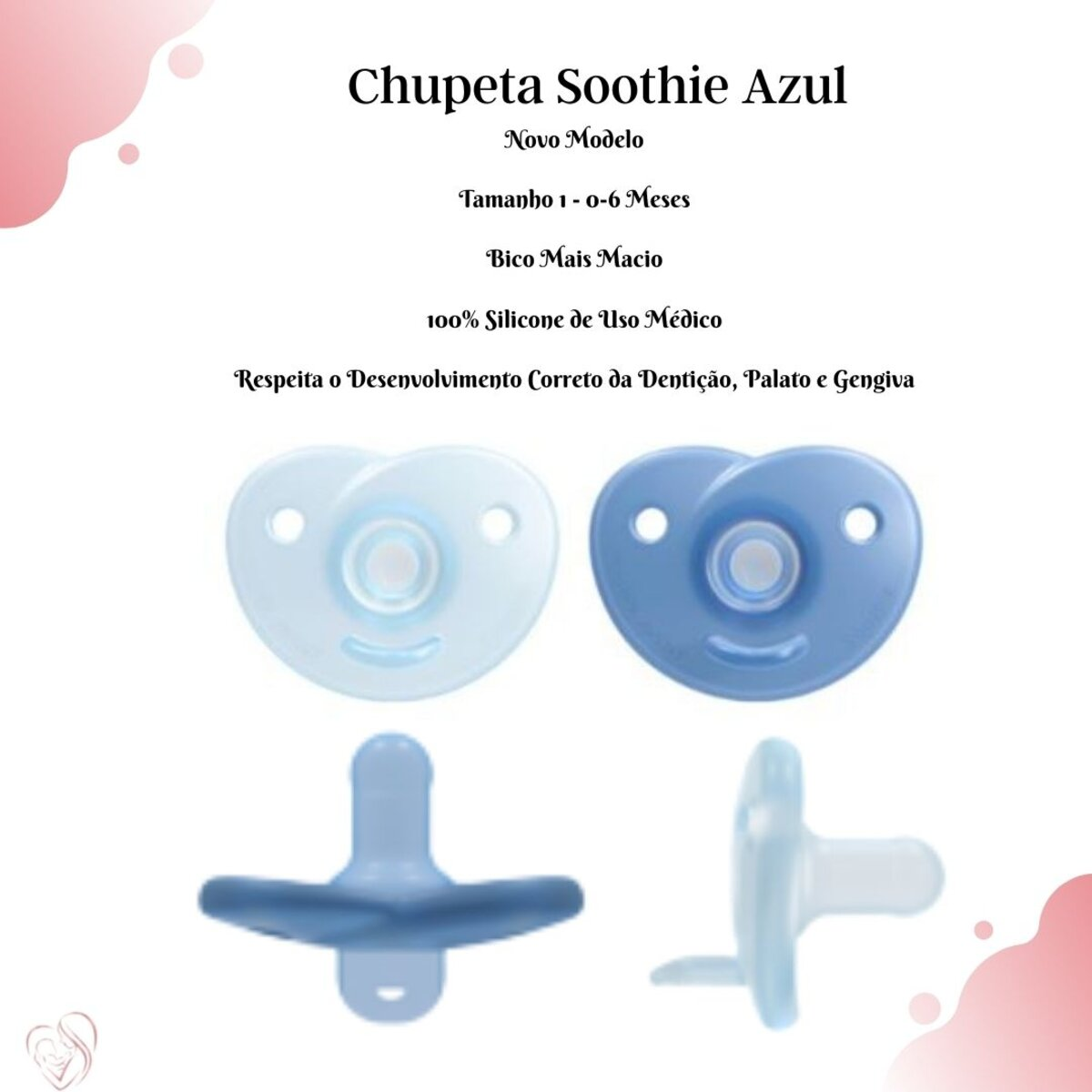 Chupeta Soothie Azul 0-6 Meses Philips Avent  Nova