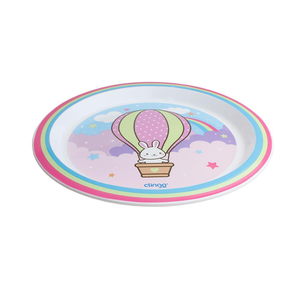 Conjunto Prato e Colher Termossensível Infantil Clingo Balao