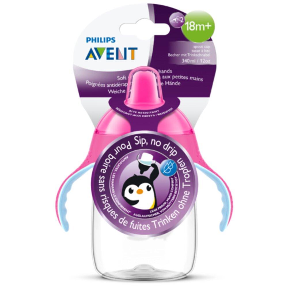 Copo Pinguim Philips Avent 260ml Antivazamento - Rosa