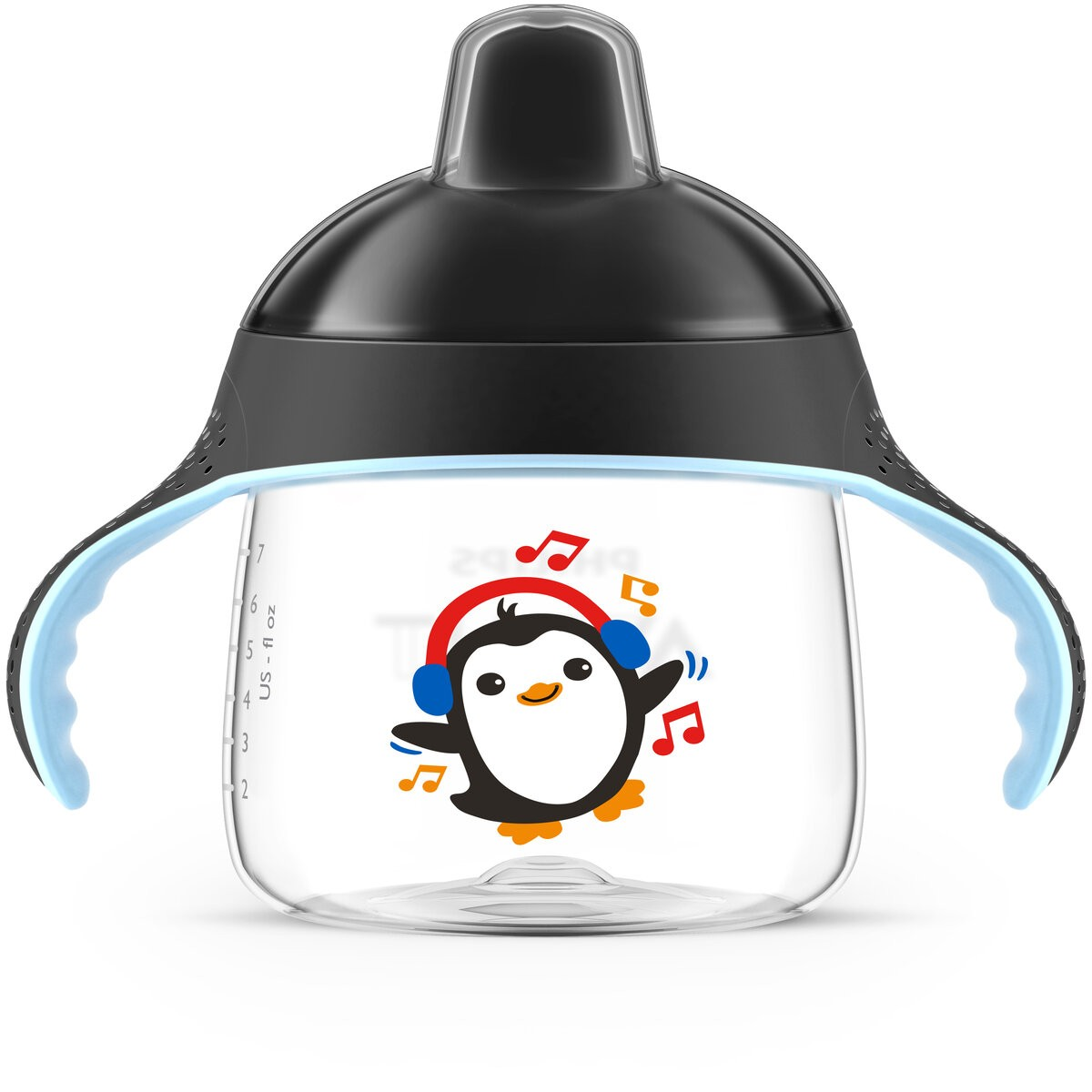 Copo Treinamento Pinguim 260ml Preto Philips Avent