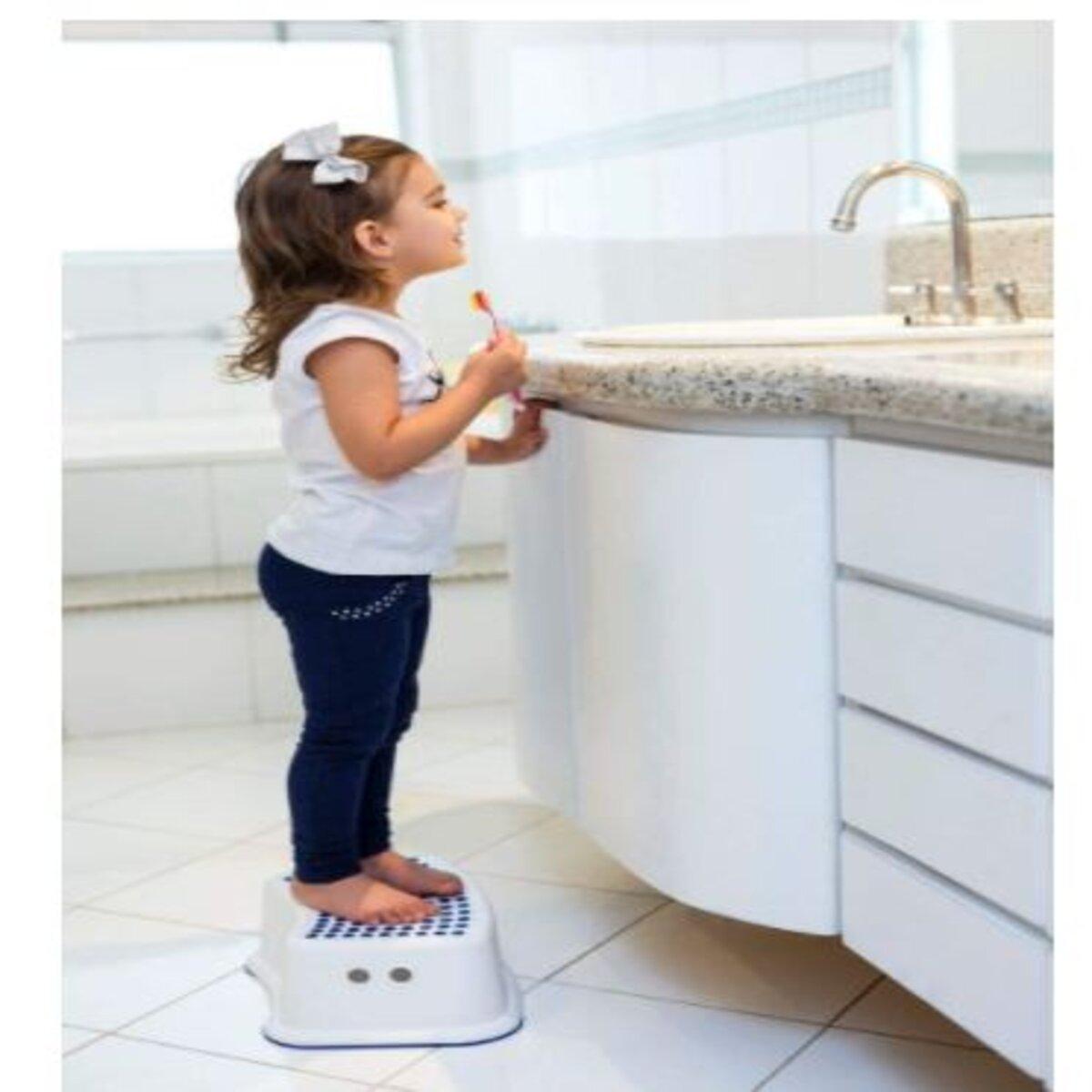 Degrau Infantil Step Dots Antiderrapante Clingo Cinza