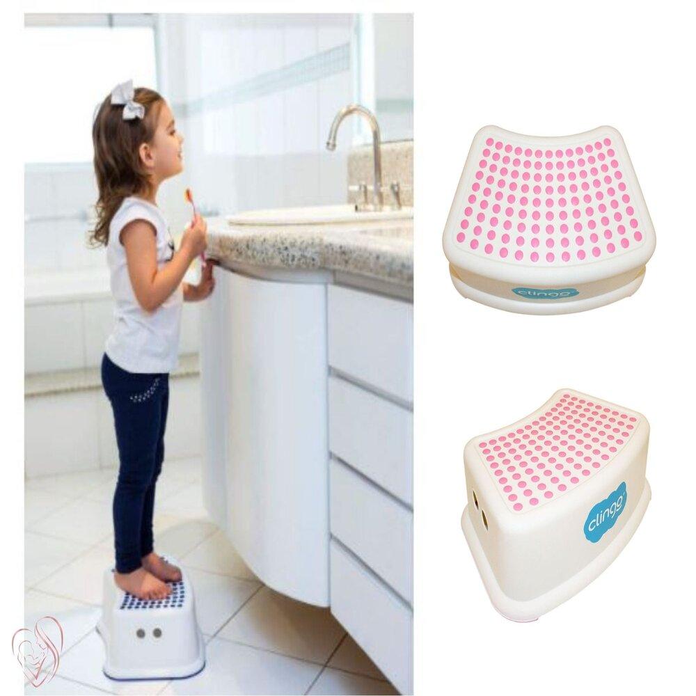 Degrau Infantil Step Dots Antiderrapante Clingo Rosa