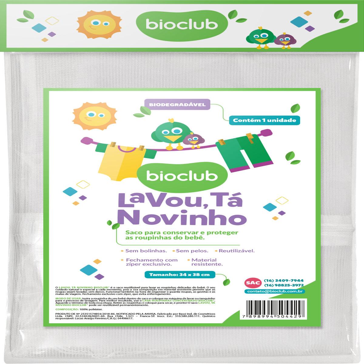 Detergente Líquido Lava 500ml e Saco de Roupas Bioclub
