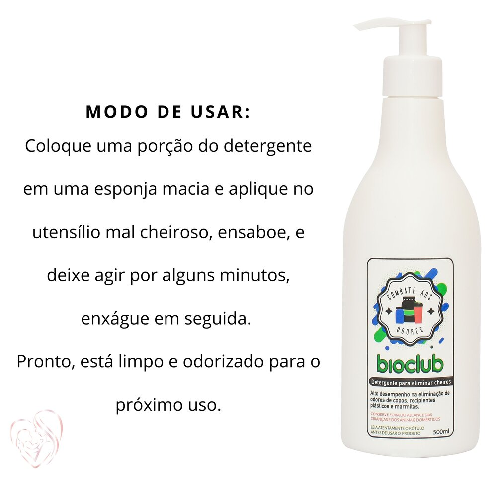 Detergente para Eliminar Cheiros de Utensílios Bioclub 500ml
